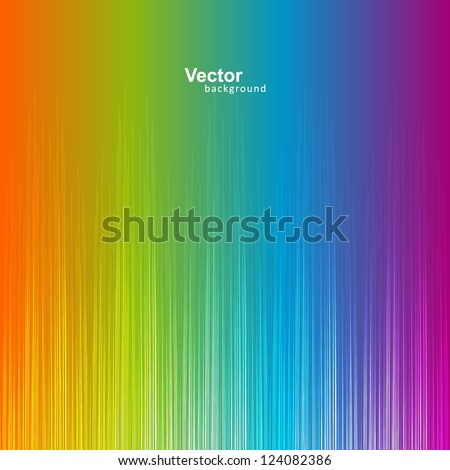 Rainbow gradient equalizer (vector) - stock vector