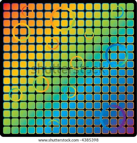 rainbow grid design - stock vector