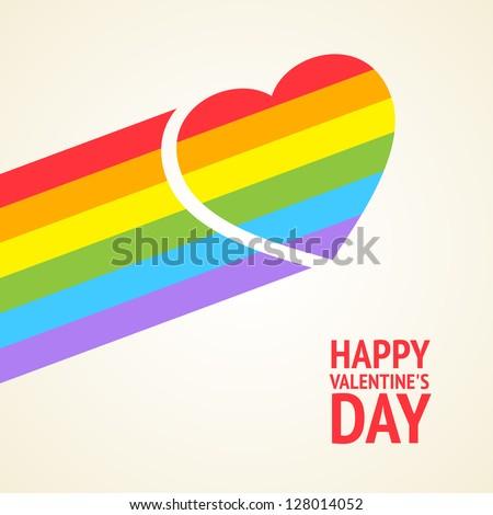 Rainbow heart. Vector illustration, eps 10, contains transparencies. - stock vector