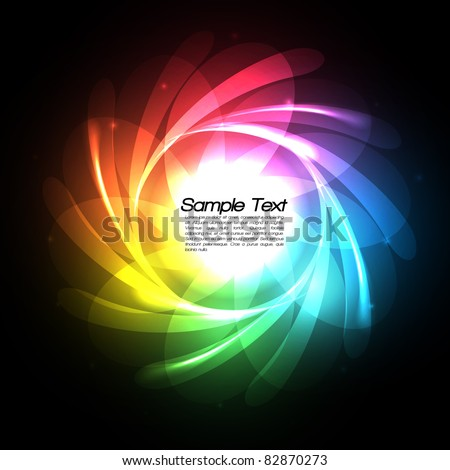 Rainbow Lines Vector Background - EPS10 Design - stock vector