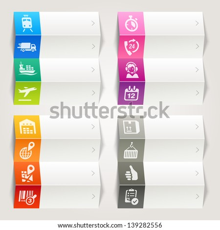 Rainbow - Logistic and Shipping icons / Navigation template - stock vector