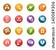 Rainbow - Love and Dating icons / Navigation template - stock vector