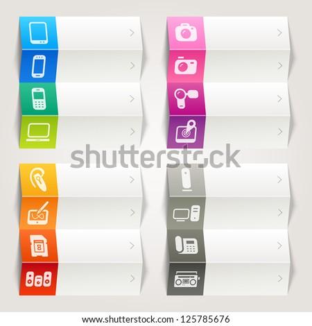 Rainbow - Media icons / Navigation template - stock vector
