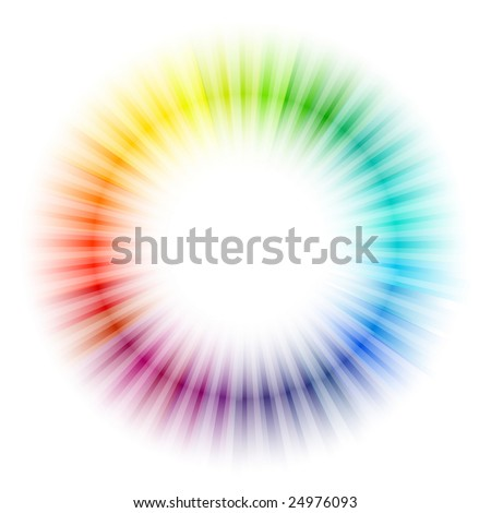 Rainbow radial pattern - stock vector