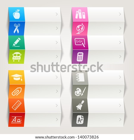 Rainbow - School and University Icons / Navigation Template - stock vector