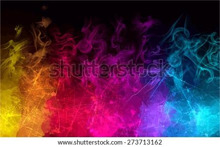 Rainbow smoke background. Vector version - stock vector