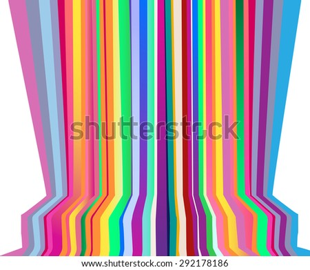 rainbow stripes background. Vector illustration - stock vector