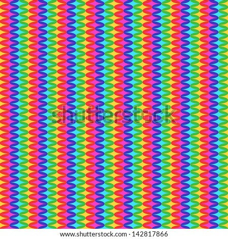 Rainbow Stripes Pattern - stock vector