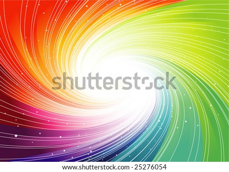 rainbow swirl background - stock vector