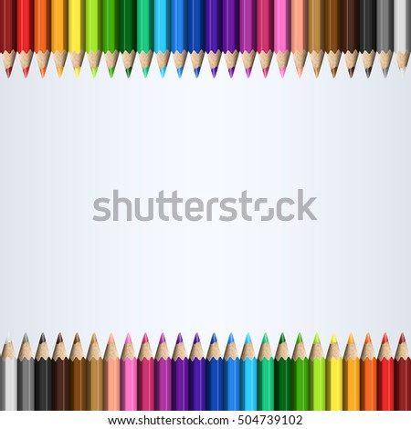 Rainbow Template Colorful Pencils for / Page / Presentation / Website