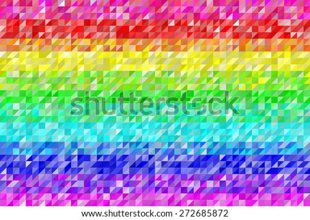 Rainbow Triangles Pattern Seamless Background. EPS8 Vector - stock vector