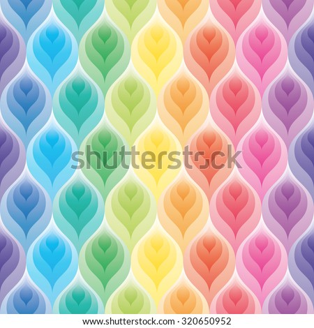 Rainbow wallpaper. 3d seamless background. Vector EPS10. - stock vector