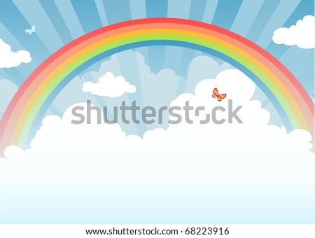 Rainbow with space for text