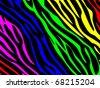 Rainbow zebra print. Also available as jpeg image. - stock vector