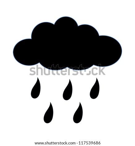 Rainy Cloud Shape - stock vector