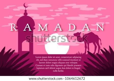 Ramadan greeting camel islamic greeting card stock vector 2018 ramadan greeting with camel islamic greeting card for ramadan kareem vector m4hsunfo Choice Image