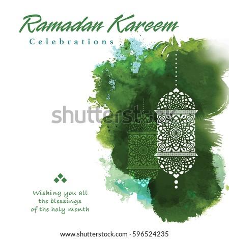Ramadan greetings background ramadan kareem means stock vector hd ramadan greetings background ramadan kareem means ramadan the generous month m4hsunfo