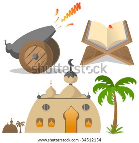 ramadan icon - stock vector
