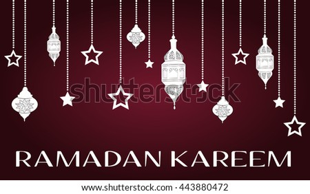 Ramadan Kareem beautiful greeting card, template for menu, invitation, poster, banner, card for the celebration of Muslim community festival,vector