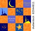 Ramadan Kareem. Colorful seamless background. vector background - stock vector