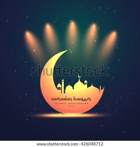 ramadan kareem festival greeting - stock vector