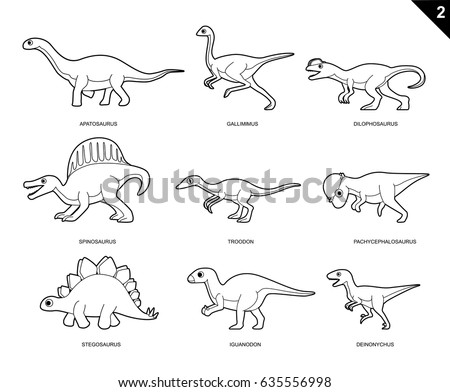 Random Dinosaur Coloring Book Cartoon