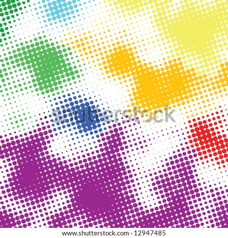 Random halftone colorful background - stock vector