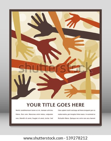 Random hand pattern design with space for text. - stock vector