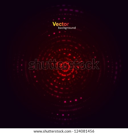Range vector equalizer - stock vector