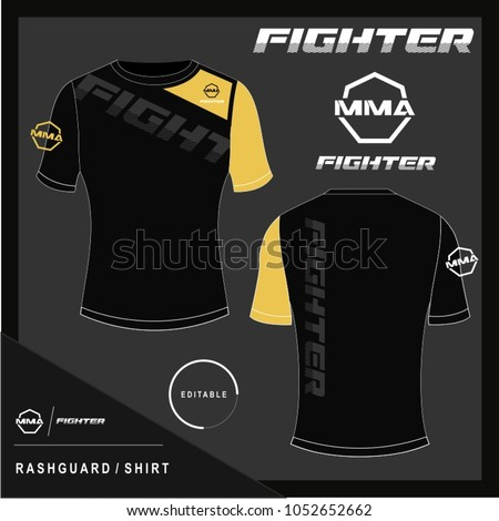 rash guard mma shirt design template vector de stock1052652662 shutterstock. Black Bedroom Furniture Sets. Home Design Ideas