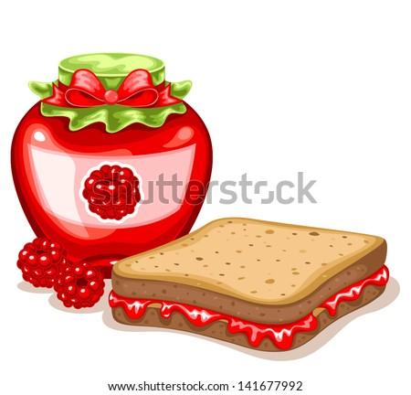 Apricot Jam Jelly Sandwich Stock Vector 141789139 - Shutterstock