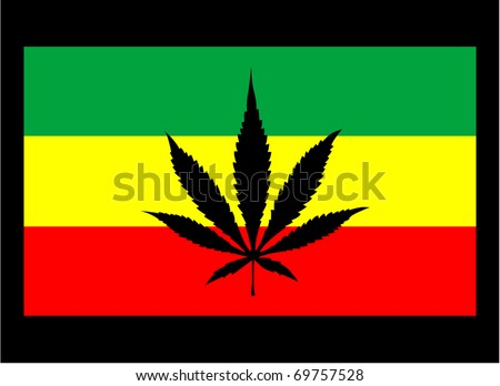 Marijuana Leaf Silhouette Rasta Background Cannabis Stock ...