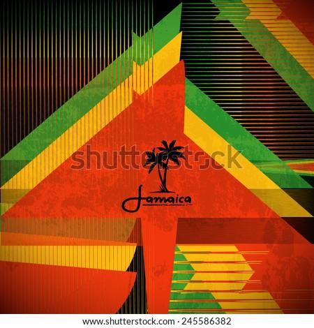 Rastaman Poster. Vector Background. - stock vector