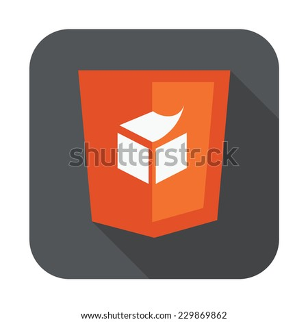 raster round icon of semantic web html5 template layout - isolated flat design illustration - stock vector