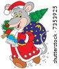Rat-a-Clause (vector clip-art) - stock vector
