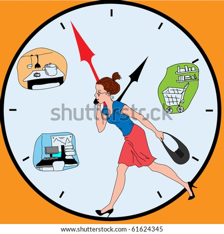 Rate of a life of the modern woman - stock vector