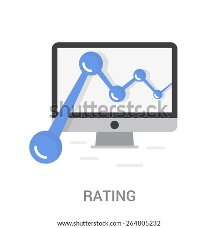 Rating Icon - stock vector
