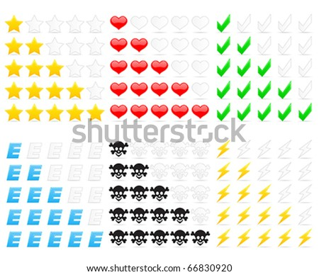 rating icons - stock vector