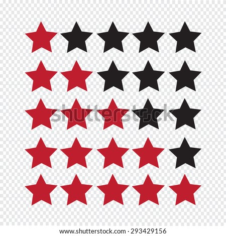 Rating stars icon - stock vector