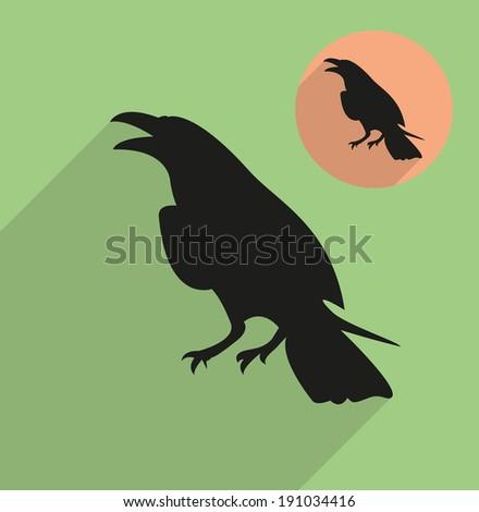 Raven, corbie - stock vector