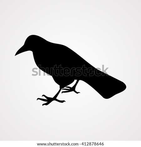 Raven icon,vector illustration