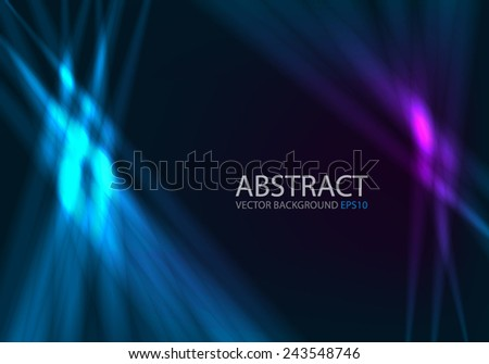 Ray light background blue and purple color line technology digital lighting art background for text and message design , vector - stock vector