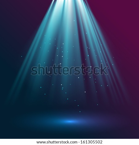 Rays of light, eps10 vector - stock vector