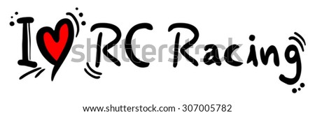 RC Racing love - stock vector