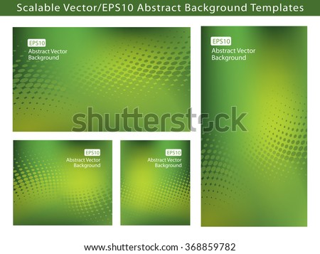 Re-sizable Abstract Fresh Green EPS10 Vector Background Templates with dot swirls and plenty of text space.  - stock vector