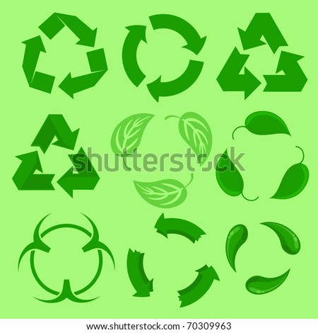 Re-use - stock vector