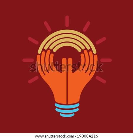 reach idea, a human think - stock vector
