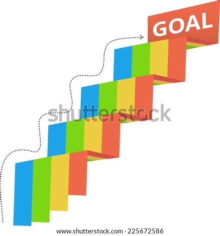 Reach Your goal - stock vector