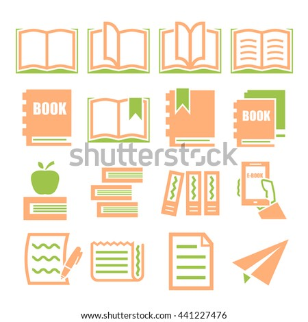 read, dictionary, book icon set