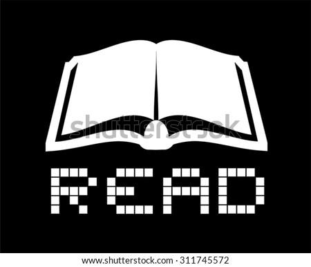 read icon - stock vector